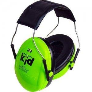 אוזניות נגד רעש לילדים בצבע ירוק 3M PELTOR KID-min