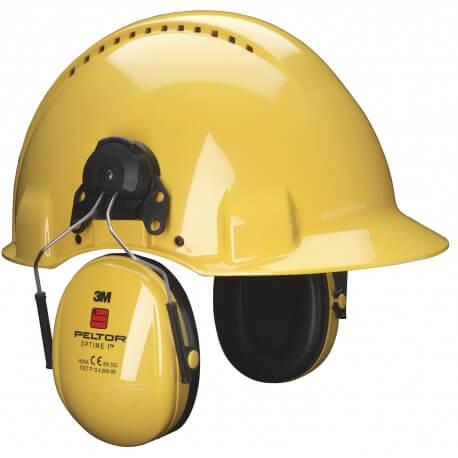 אוזניות נגד רעש עם חיבור לכובע מגן אוניברסלי 3M PELTOR OPTIME