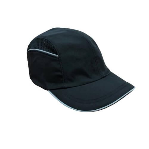 כובע חבטות שחור מאוורר