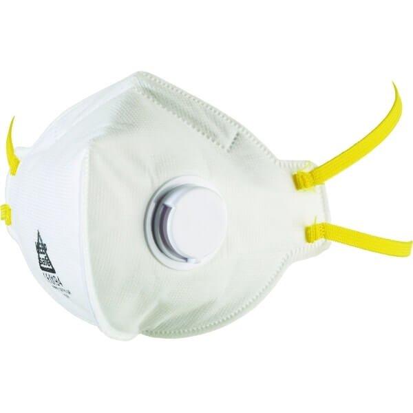 מסכה חד פעמית להגנת נשימה FFP3 מתקפלת שטוחה עם שסתום פליטה 303P3Vw-min