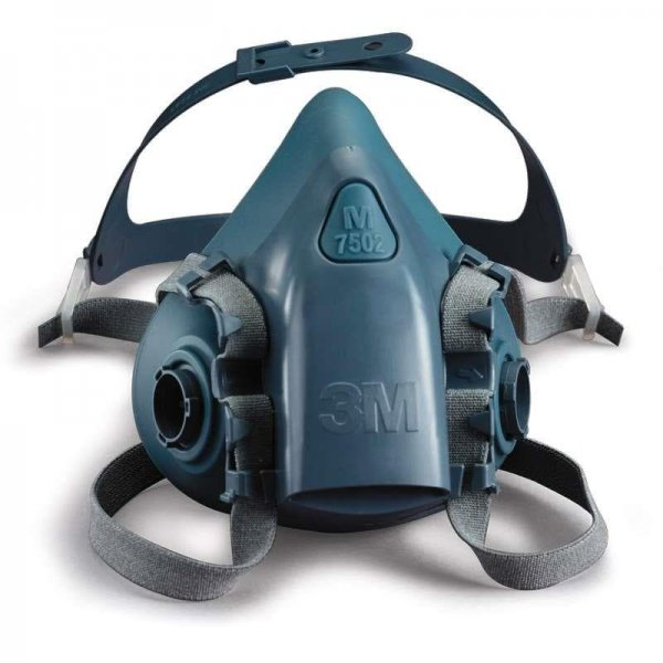 מסכת נשימה חצי פנים מסיליקון 7502 3M לשימוש עם 2 מסננים-min