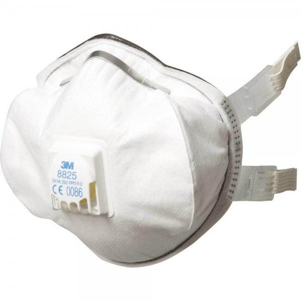 מסכת נשימה רב פעמית FFP2 עם שסתום פליטה, 3M 8825 כ5 יח'-min