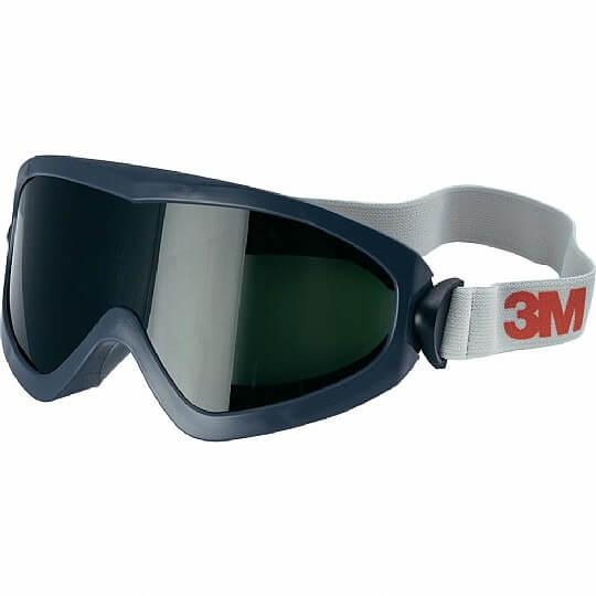משקפי מגן גוגלס לריתוך עם עדשות כהות 5.0, אטומות לגזים 3M 2895S
