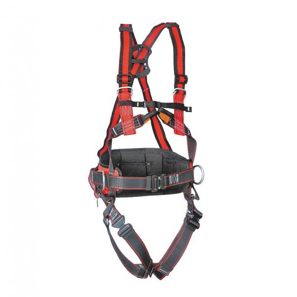 רתמת בטיחות עם חגורת גב, 4 נקודות, מחברים מהירים Protekt P51E