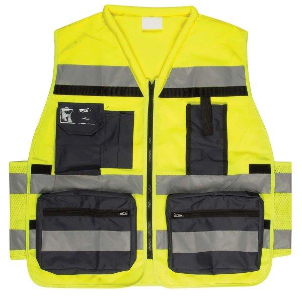 וסט זוהר עם כיסים, בצבע צהוב. בעל תקן ישראלי-min