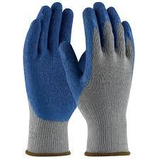 5 זוגות כפפות אחזקה מסריג אפור מצופות לטקס מחוספס לאחיזה משופרת