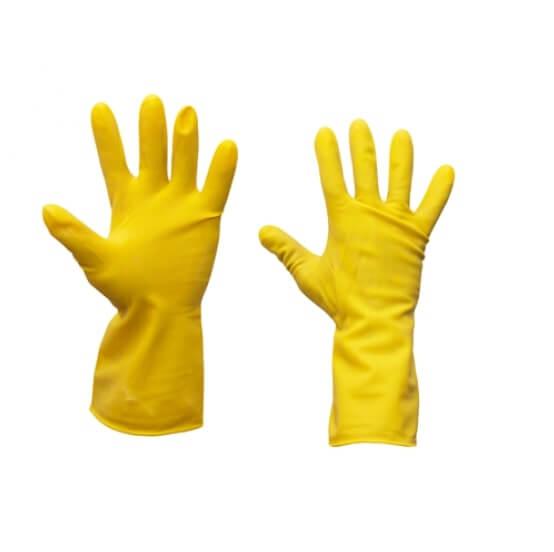 כפפת ויניל צהובה