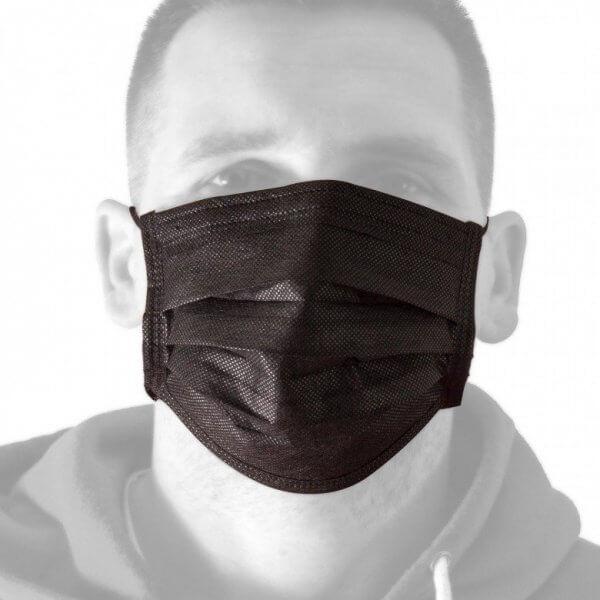 מסכות נשימה לנגיף קורונה בצבע שחור