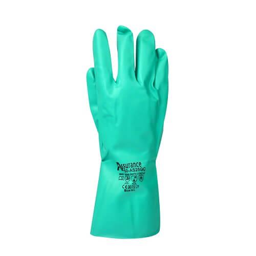 כפפות ניטריל לשימוש רב פעמי לטיפול בחלקים שומניים וכימיקלים
