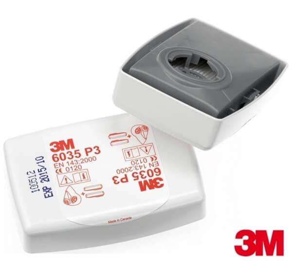 זוג מסננים לאבק דגם 6035 למסיכות 3M