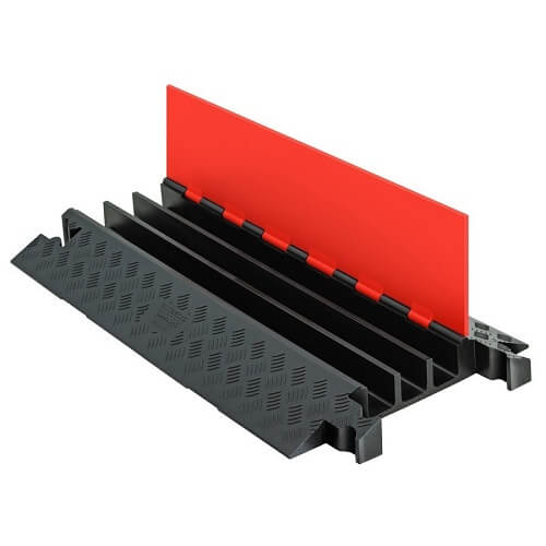 מגן כבלים תעלת דריכה דגם Guard Dog צבע כתום שחור 3 תעלות תוצרת checkers